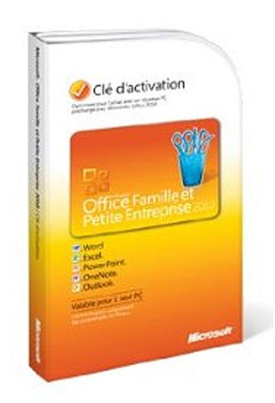 Microsoft office famille et petite entreprise 2010 1 pc - Office famille et petite entreprise 2010 ...