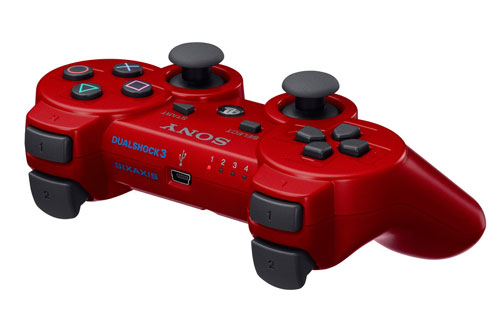 Manette Playstation  rouge Dualshock PS Sony Dual Shock a w