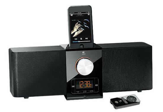 logitech pure fi express plus pour ipod et iphone mini. Black Bedroom Furniture Sets. Home Design Ideas