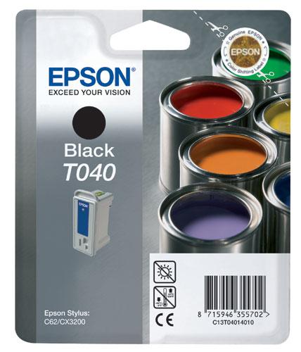 Cartouche Epson T040 noire QuickDry