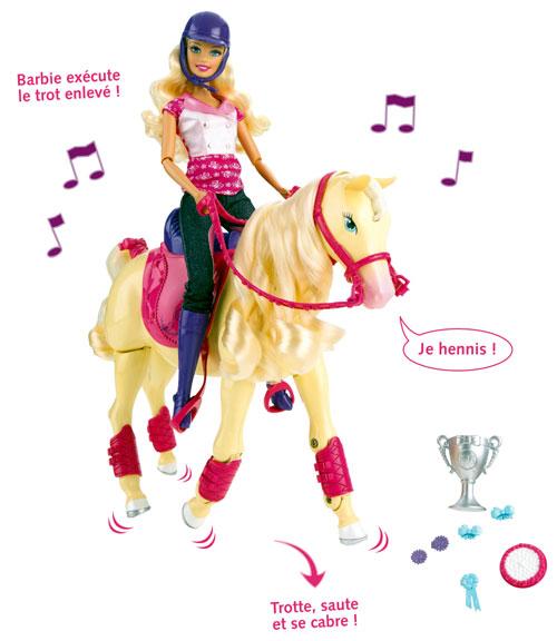 Mattel barbie et cheval champion poup e achat prix fnac - Barbie et son cheval ...