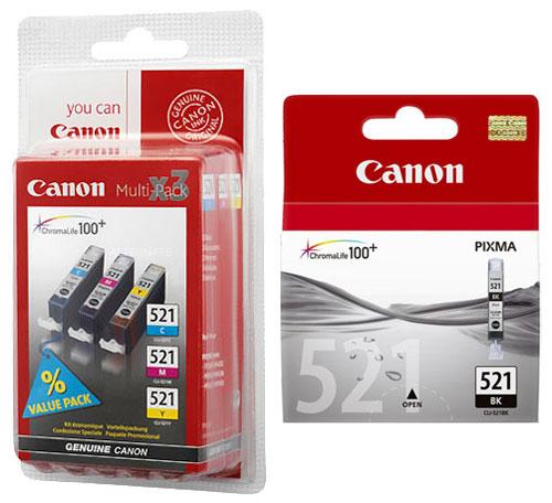 Cartouche Canon CLI  Multipack Couleurs BK Noire a w