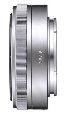 Sony E Pancake 16 mm f/2.8, Dédié séries NEX