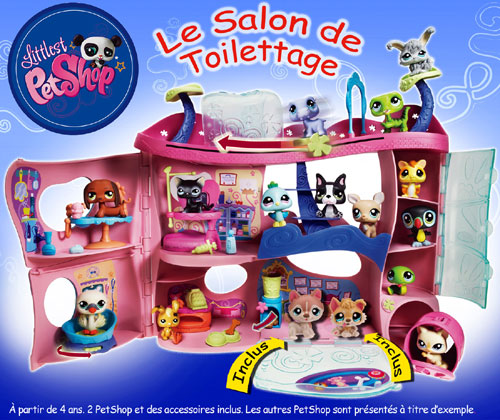 hasbro littlest petshop le salon de toilettage univers