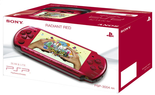 Console PSP  Slim et Lite rouge Sony a w