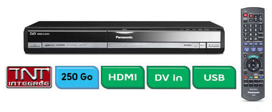 panasonic dmr ex87ec k graveur de dvd enregistreur disque dur avec tuner tv num rique. Black Bedroom Furniture Sets. Home Design Ideas