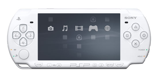Console Sony PSP Slim et Lite Blanche a w