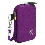 Etui en néoprène violet avec revetement intérieur protégeant votre écran pour appareil photo, lecteur MP3 et téléphone mobile Dimensions intérieures : 76 x 25 x 114