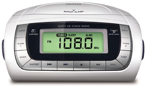philips radio r veil avec lecteur cd aj3915 radio r veil cd achat prix fnac. Black Bedroom Furniture Sets. Home Design Ideas