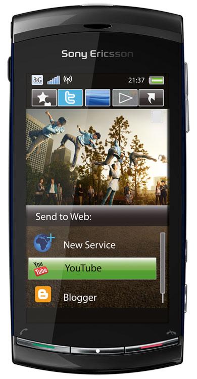 Téléphone quadri-bande, EDGE, HSDPA, écran 16 millions de couleurs, Bluetooth Stéréo 2.0, Wi-Fi, fonction GPS, appareil photo 8,1 Megapixels, lecture/enregistrement vidéo, lecteur audio, radio FM Emplacement pour carte MicroSD (carte 8 Go fournie)