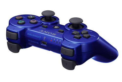 manette playstation 3 bleu dualshock ps3 dual shock. Black Bedroom Furniture Sets. Home Design Ideas