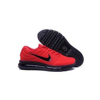 Baskets Nike Air Max 2017 Homme, Chaussures de Running homme rouge et noir Taille 42
