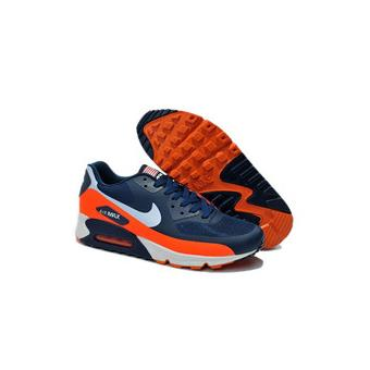 more photos 344b2 55bf6 NIKE Baskets Air Max 90 Sports Running Chaussures Bleu et Orange Taille 42  - Chaussures et chaussons de sport - Achat   prix   fnac