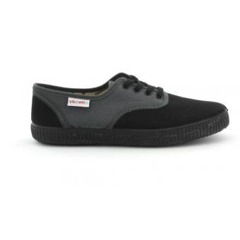 Gris Bi et Foncé de chaussons Chaussures 106651 Toile VICTORIA qgStff