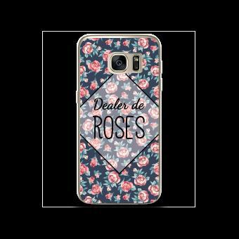 coque samsung s7 silicone rosas