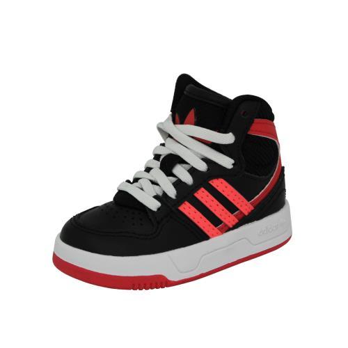 Adidas originals court attitude ei <strong>chaussures</strong> mode sneakers enfant noir rouge