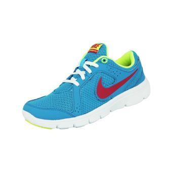 authentic quality sports shoes check out Nike FLEX EXPERIENCE Chaussures de Course Running Femme Bleu Blanc ...