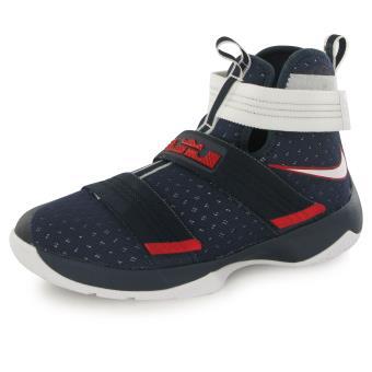 Bleu Chaussures De Nike Lebron Soldier Enfant Basketball HEUwBqw