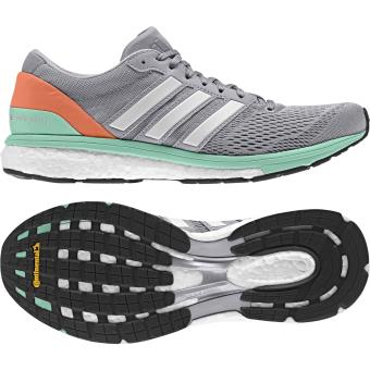 23a3cb1e0ba Adidas - Chaussures femme adidas adizero Boston 6 - gris blanc orange clair  - Chaussures et chaussons de sport - Achat   prix