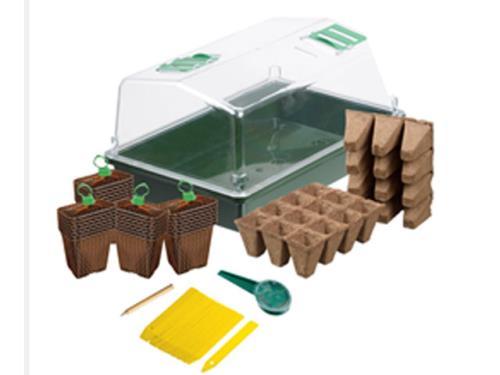 Kit mini-serre de culture 37,5cm pour semis et bouturage
