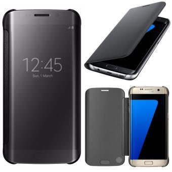 52417c5caabbf7 Coque Clear View Cover pour Samsung Galaxy S7 edge G935F - NOIR - Etui pour  téléphone mobile - Achat   prix   fnac