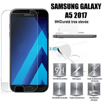 Samsung Galaxy A5 2017 Vitre Protection Decran En Verre Trempe Incassable Tempered Glass Pour