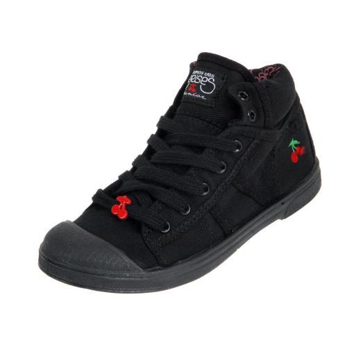 <strong>Chaussures</strong> montantes toile le temps des cerises noir taille 33