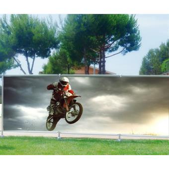 brise vue jardin terrasse balcon dco moto cross occultation 100 dimensions 300x117cm autocollants muraux top prix fnac - Brise Vue Jardin