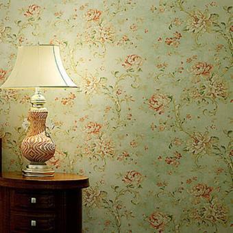 Papier Peint De Style Pastoral Avec Motif En Fleurs 3d Pour Chambre