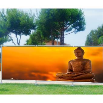 Brise vue imprimé, jardin, terrasse, balcon déco Bouddha Occultation ...