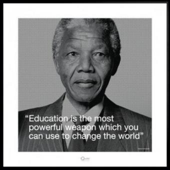 Poster Reproduction Encadré Nelson Mandela L éducation