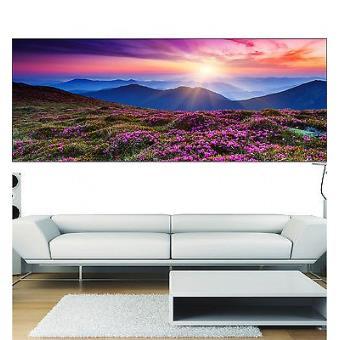 Stickers panoramique déco paysage fleuri réf 3678 13 dimensions