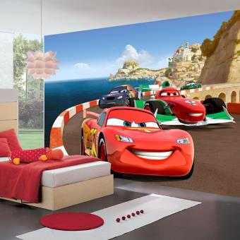 Papier peint XXL Cars sur Piste Disney, Top Prix   fnac