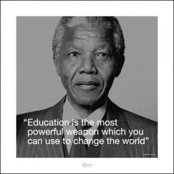Nelson Mandela Poster Reproduction L éducation Est L Arme