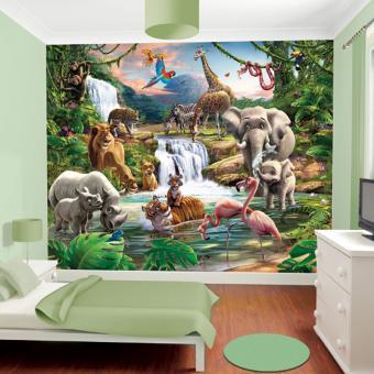 Papier Peint Enfant Le Monde De La Jungle Walltastic Autre Poster