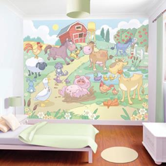 Papier Peint Bebe Animaux De La Ferme Walltastic Autre Poster Top