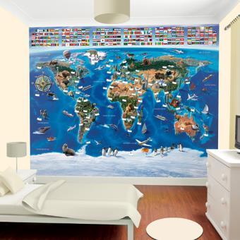 Papier Peint Enfant Carte Du Monde Walltastic Autre Poster Top