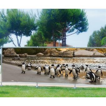 Brise vue imprimé, jardin, terrasse, balcon déco Pingouins ...