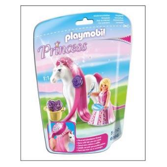 Playmobil Princess 6166 Princesse Rose avec cheval à coiffer
