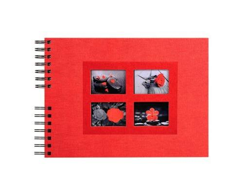 Album Photo Spirale Exacompta 32 x 22 cm Passion Rouge