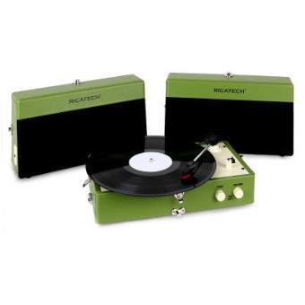 ricatech rt80 tourne disque vintage vert aux platine vinyle achat prix fnac. Black Bedroom Furniture Sets. Home Design Ideas