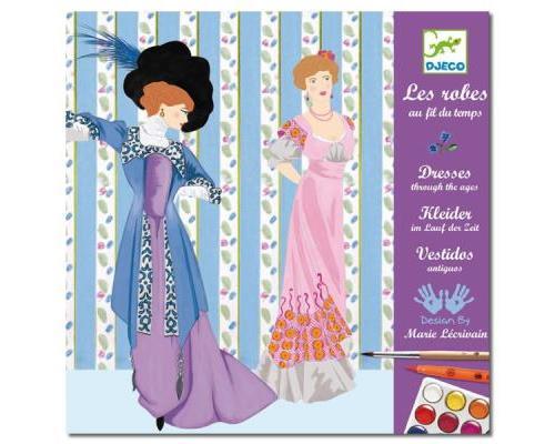 DJECO - Feutres Pinceaux - Les Robes au Fil du Temps