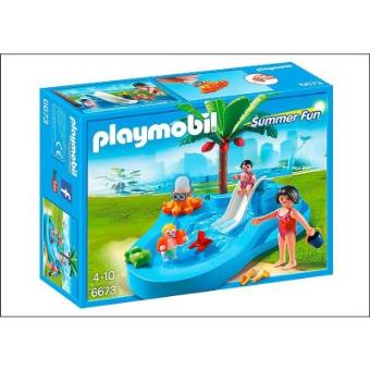 Playmobil summer fun 6673 bassin pour b b s et mini for Piscine playmobil prix