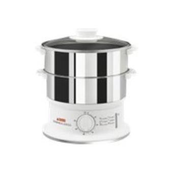 cuiseur vapeur seb vc145100 blanc en inox achat prix. Black Bedroom Furniture Sets. Home Design Ideas