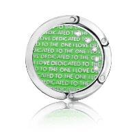 MARCOM BAG HOOK LOVE CRYSTAL GREEN-