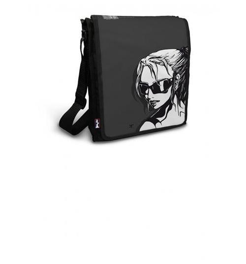 Streetbag Zipitbag black - idomu besace étudiant pour format A4+