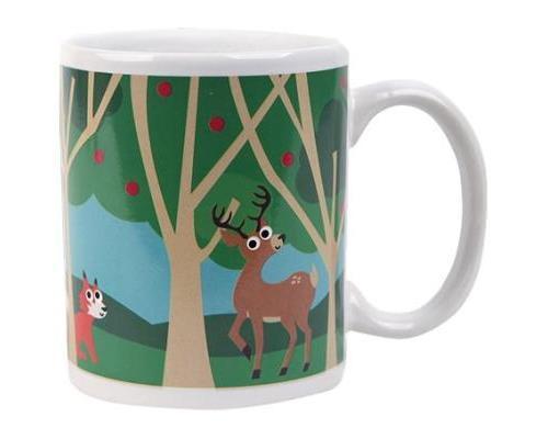 kikkerland kkcu85 mug thermographique forêt