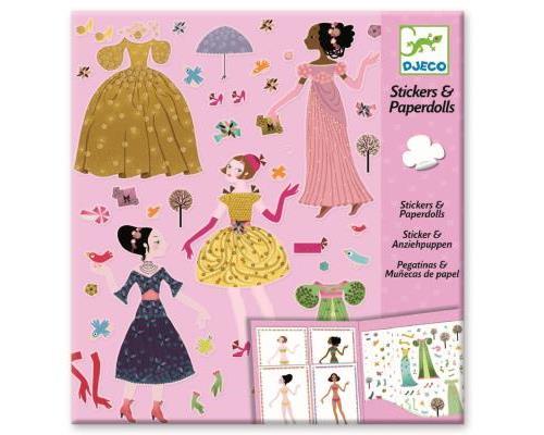 Stickers et paper dolls : robes des 4 saisons djeco