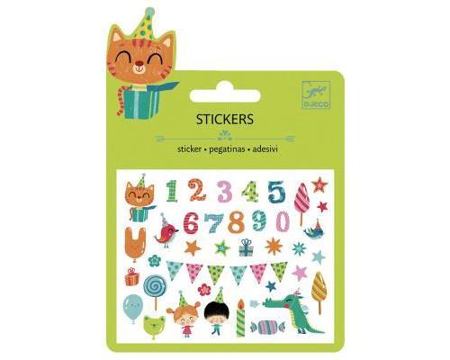 Mini stickers : Anniversaire Djeco
