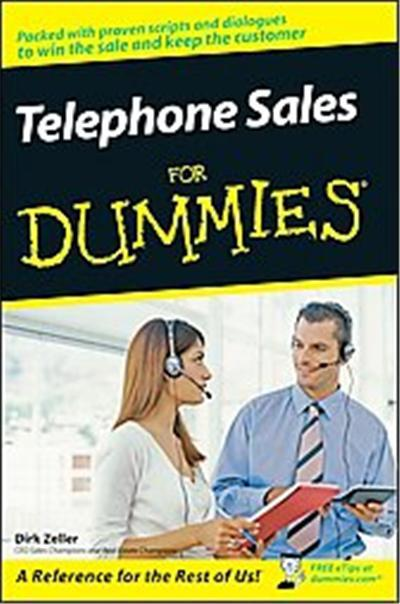 Telephone Sales for Dummies, For Dummies (Career/Education)